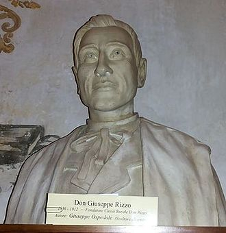 Giuseppe Rizzo (priest) - Bust of Don Rizzo inside the Civic Library