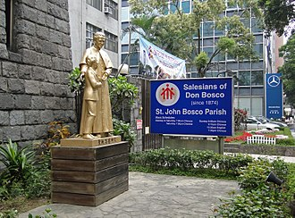 Salesians of Don Bosco - Statue of Don Bosco at St John Bosco Parish Church, Taipei, Taiwan