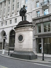Statue of James Henry Greathead outside The Royal Exchange - geograph.org.uk - 887035.jpg