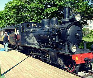 Upsala-Lenna Jernväg - Image: Steam engine BLJ5 Thor uppsala