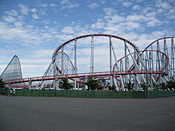 Steel Dragon 2000 from outside Nagashima Spa Land's boundary