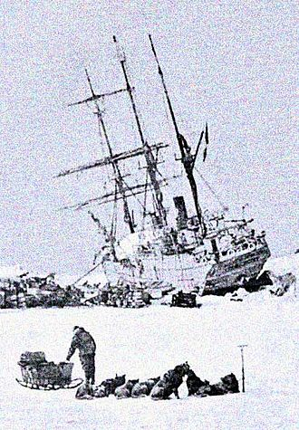 Prince Luigi Amedeo, Duke of the Abruzzi - The Stella Polare was trapped and threatened to sink. The crew were obliged to land with the utmost haste and to secure materials for building a dwelling.