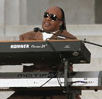 Stevie Wonder at the Obama inauguration 2009