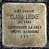 Stolperstein Bölschestr 39 (Frihg) Clara Leske.jpg