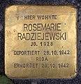 Stolperstein Friedrichshaller Str 28 (Schma) Rosemarie Radziejewski.jpg