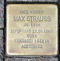 Stolperstein Karlsruhe Max Strauss 2014.jpg