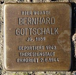 Photo of Bernhard Gottschalk brass plaque