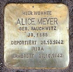 Photo of Alice Meyer brass plaque