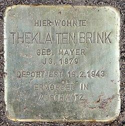 Photo of Thekla Ten Brink brass plaque