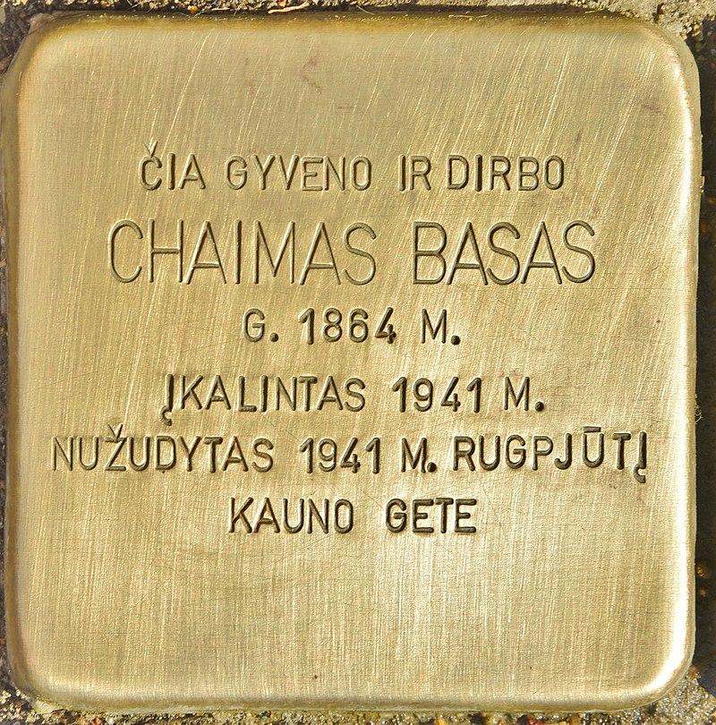 Stolperstein für Chaimas Basas (Kaunas).jpg