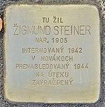 Stolperstein für Zigmund Steiner (Prievidza).jpg