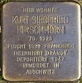 Stolpersteine Köln Ludolf Camphausen Strasse 34 Kurt Siegfried Hirschhorn.jpg