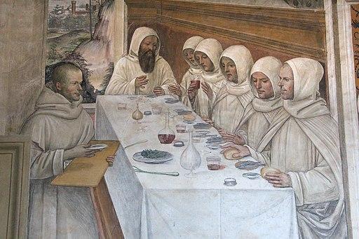 Storie di s. benedetto, 31 sodoma - Come Benedetto ottiene farina in abbondanza e ne ristora i monaci 04
