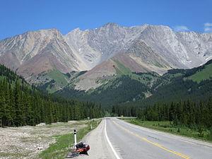 Storm Mountain (Alberta) - Storm Mountain from Kananaskis Trail