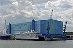 Stralsund, Volkswerft, Fährschiff Berlin (2013-07-30) 1, by Klugschnacker in Wikipedia.JPG