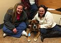Stranded dog rescued by crew of Coast Guard Cutter Bristol Bay reunited with owner 140305-G-ZZ999-001.jpg