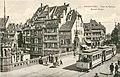 Strasbourg (67), tramway de la ligne 6 sur le pont du Corbeau.jpg