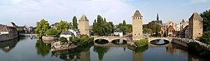 Strasbourg - Ponts Couverts vus de la terrasse panoramique