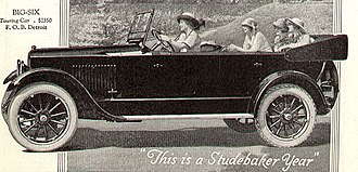 Studebaker Big Six - 1920 advertisement for the Studebaker Big Six touring car