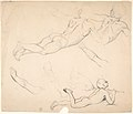 Studies of a Boy Playing the Flute; verso- Studies of Seated Man MET DP803686.jpg