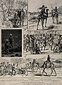 Sudan, Africa; sheet of sketches showing fighting, medical a Wellcome V0015329.jpg