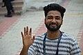 Sumant Choudhary Waving Goodbye - Wiki Conference India - CGC - Mohali 2016-08-07 8883.jpg