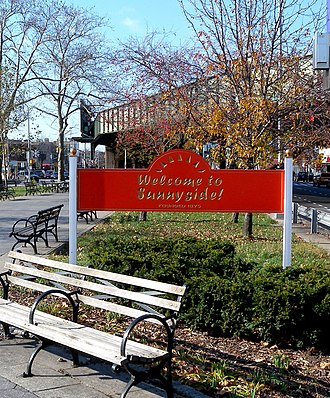 Sunnyside, Queens - Welcome to Sunnyside sign