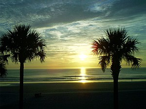 Daytona Beach Shores, Florida - Image: Sunrise D B Shores 01