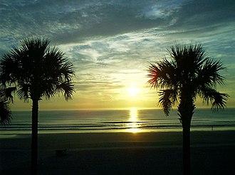 Daytona Beach Shores, Florida - Image: Sunrise D B Shores 01