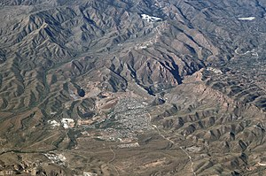 Superior, Arizona - Superior from the air, looking north, 2010.