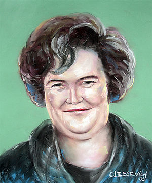 Susan Boyle in pastels - Because of ongoing di...