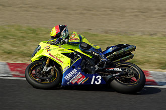 Suzuka Circuit - Yamaha YZF-R1 of Team Etching Factory at the qualifying session of the Suzuka 300 km endurance race (2010).