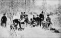 Světozor - 5.6.1891 - Jaroslav Věšín - Snídaně v bažantnici o honbě v Průhonicích.png