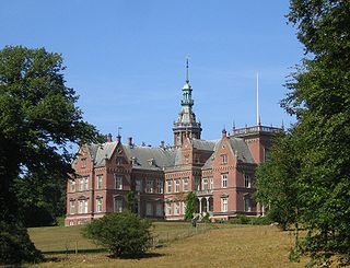 Kulla Gunnarstorp Castle building in Helsingborg Municipality, Skåne County, Sweden