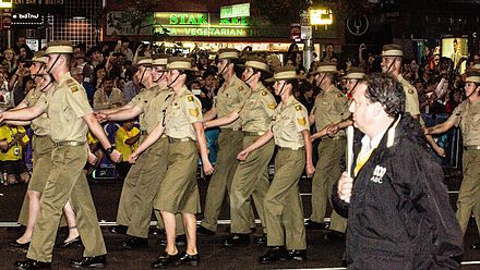 Soldiers marching in the 2013 Sydney Mardi Gras Sydney Mardi Gras 2013 - 8522985059.jpg