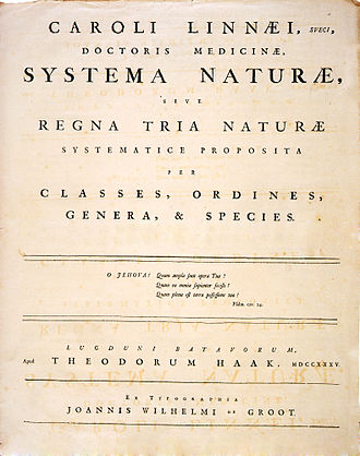 New Latin - Linnaeus, 1st edition of ''Systema Naturae'' is a famous New Latin text.