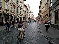 Szewska Kraków street with bicycle IMG 20200625 171731.jpg