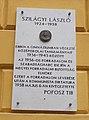 Szilágyi László emléktábla, Szent István utca, 2017 Nyíregyháza.jpg