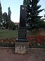 Szovjet hősi temető, a zászlóalj kapitány síremléke, 2017 Nyíregyháza.jpg