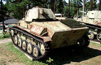 T-70 - Rear view of the T-70 at the Parola Tank Museum