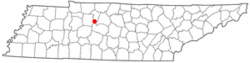 Location of Kingston Springs, Tennessee