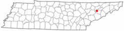 Location of New Market, Tennessee