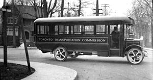 Toronto Transportation Commission - Toronto Transportation Commission bus, circa 1923