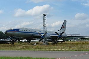 Tupolev Tu-114 - Tu-114 at Monino Museum.