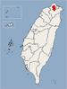 Location of Taipei City in Taiwan