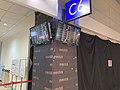 Taoyuan International Airport Terminal 2 C6 Gate Electronic Display 20200816 01.jpg