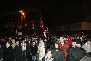 2009 Riga riot - Meeting before riots
