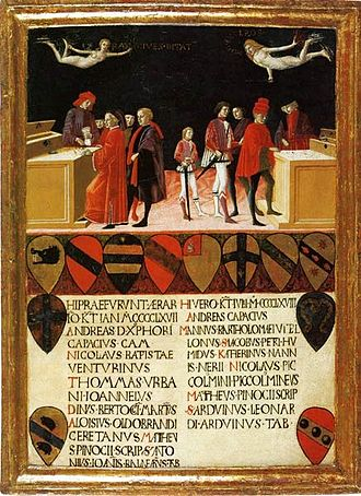 Biccherna - Finances of the City in Time of Peace and War (1468) by Benvenuto di Giovanni,