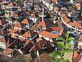 Tešanj - Vieille ville depuis le château.JPG