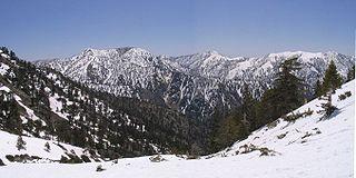 San Gabriel Mountains mountain range in Los Angeles and San Bernardino Counties, California